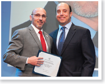 """Ben Litalien(left) is the 2011 Karp Research Foundation Award recipient for his ground-breaking research on """"Social Franchise"""""""